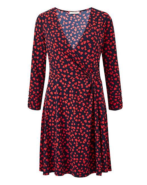 4647a358d877 Oasis Curve Heart Twist Skater Dress   Oxendales