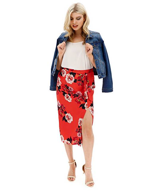 7b2d73f9d9 Oasis Curve Scarf Floral Skirt | Fashion World
