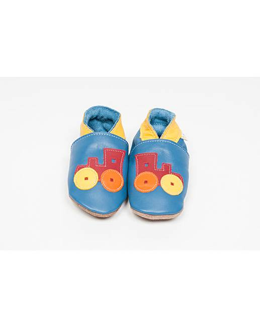 Nice Hippychick Baby Shoes Blue Trains supplier