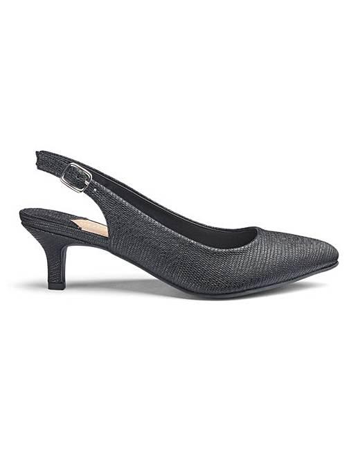 e3f86f79acd Kitten Heel Slingback Shoes EEE Fit