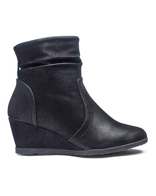f8d13b82b48 Cushion Walk Wedge Ankle Boots E Fit