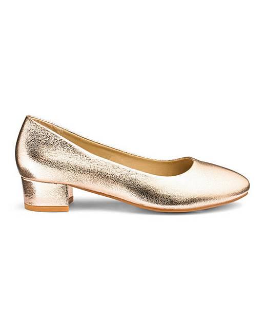 a9c7391300e5 Low Block Heel Slip On Shoes E Fit | Fashion World
