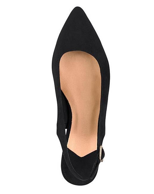 6a4ab62deeb Flexi Sole Kitten Heel Slingback Shoes Extra Wide EEE Fit