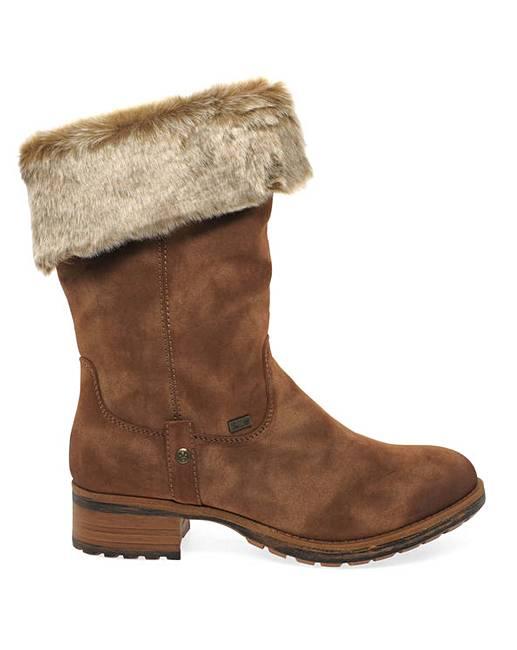 bbe0f91831755 Rieker Newam Womens Calf Length Boots | J D Williams