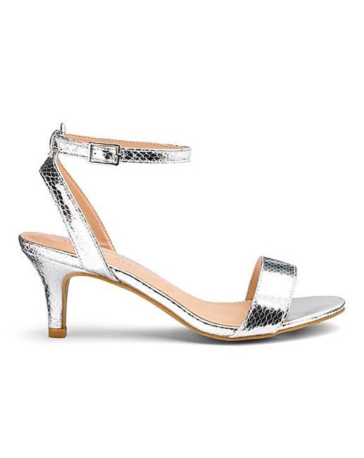 e4521b910d3d Kitten Heel Strappy Sandals EEE Fit
