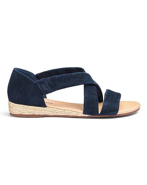 8bb4bd4756c1 Soft Strap Espadrille Sandals EEE Fit | Simply Be