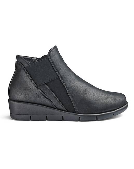 da01aafbc6a Cushion Walk Wedge Ankle Boots E Fit