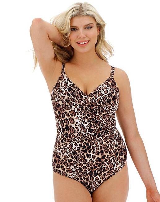 58f60cc975c196 Together Jungle Minimalist Swimsuit | Simply Be
