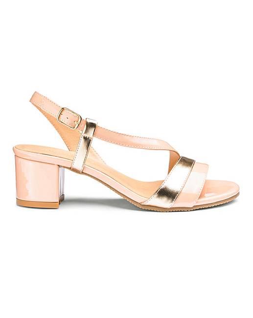 77928f58389 Flexi Sole Block Heel Sandals E Fit