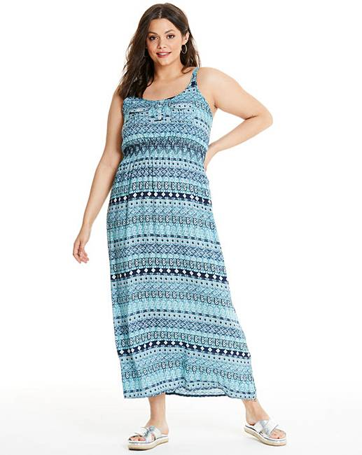 211682946 Apricot Blue Printed Maxi Dress | Simply Be