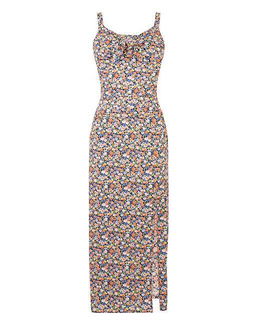 0762923bf6d8 Oasis Ditsy Column Split Midi Dress. Click to view 'Oasis' products.  Rollover image to magnify