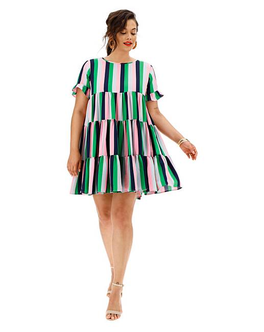 AX Paris Candy Stripe Tier Dress