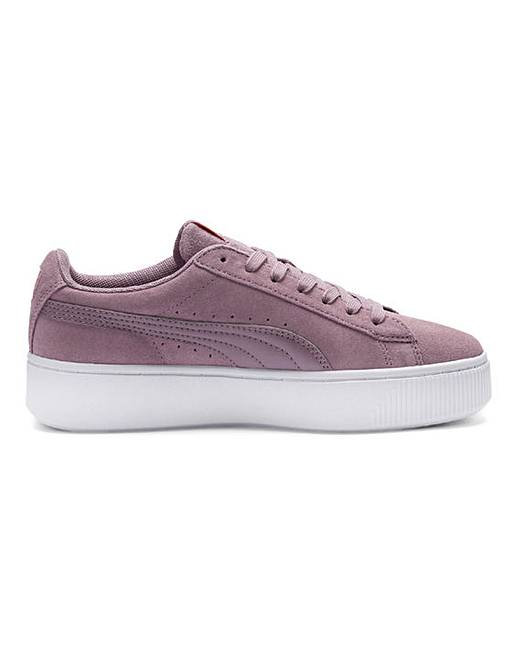 10aacd86d45 Puma Vikky Stacked Suede Trainers