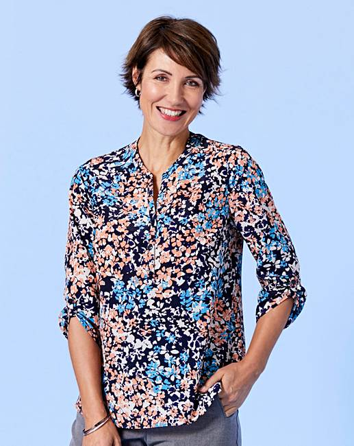 f685fae7820a52 Slimma Floral Print Blouse   Simply Be