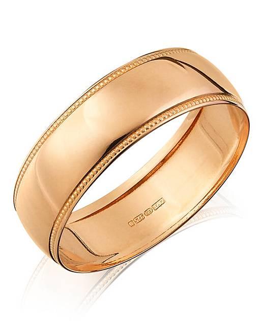 gents 9ct rose gold wedding band jacamo