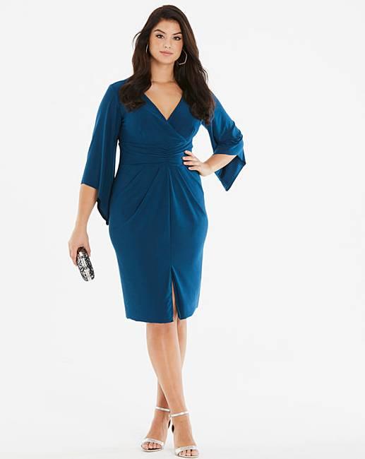 70690c36c1 Simply Be By Night Wrap Midi Dress