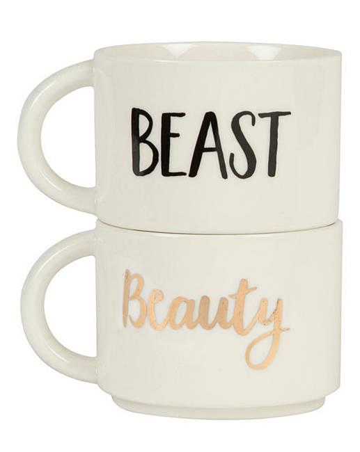 9c6a3345cf8 Beauty & Beast Stacking Mugs