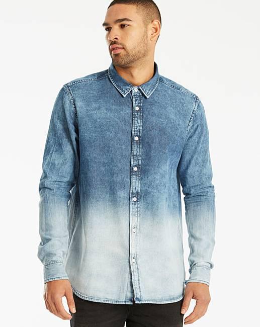 128dbd70d97 Label J LS Dip Dye Denim Shirt Reg