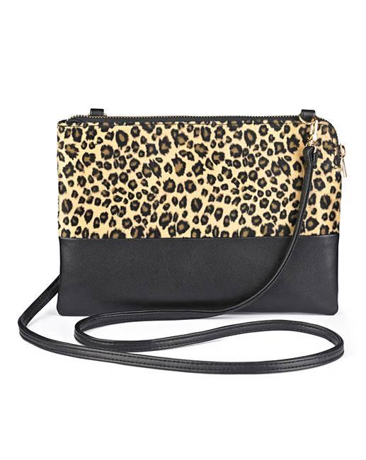 3838ae17 Faux Fur Animal Print Cross Body Bag
