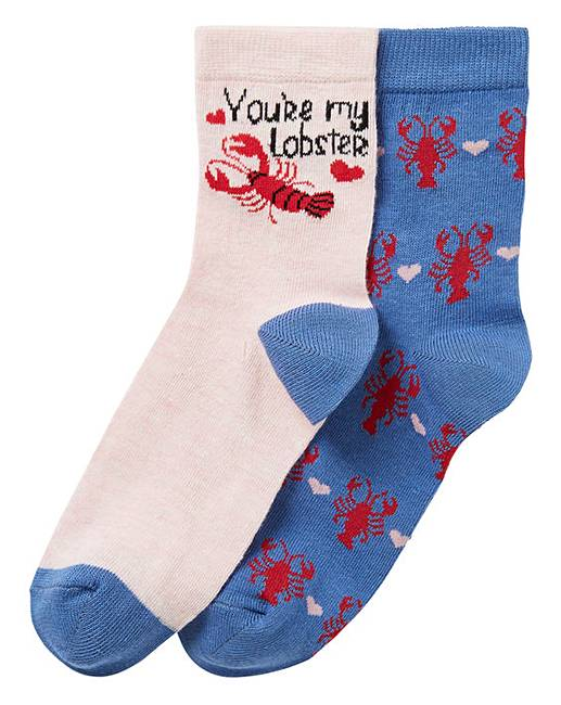 2f51492afc3a 2 Pack Novelty Lobster Ankle Socks | Oxendales
