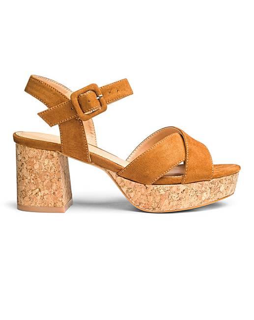 dae6e1c73d6d Sole Diva Cork Block Heel Sandal E Fit