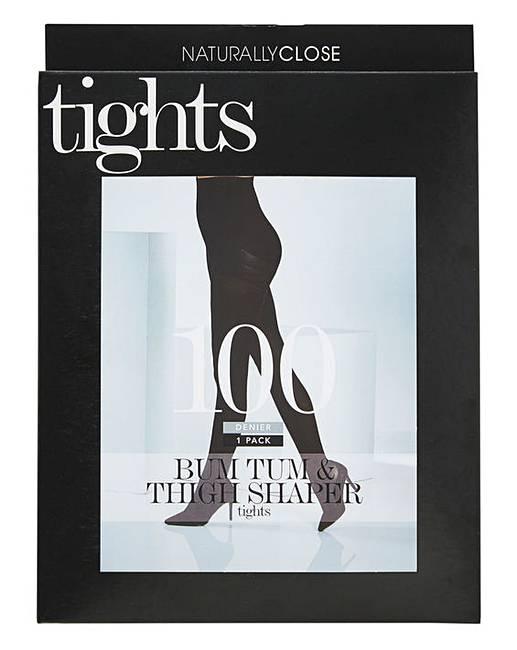 313ca41bba1c9 Magisculpt 100 Den Black Control Tights | J D Williams