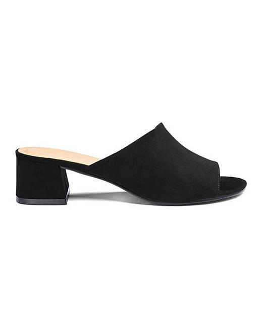 3689fbbb771c5 Melinda Block Heel Mule Extra Wide Fit | Simply Be