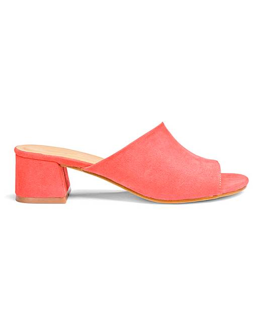 43ef5e16e53e Melinda Low Block Heel Mule Wide Fit