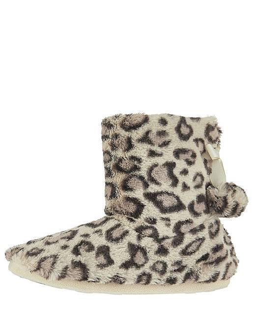 83ec2af87c60 Accessorize Furry Leopard Print Boot
