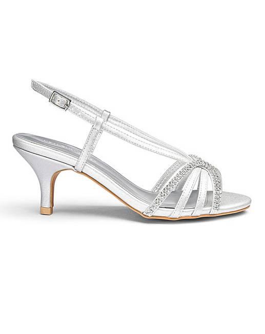 53d7af7b3fd Heavenly Soles Diamante Sandals EEE Fit