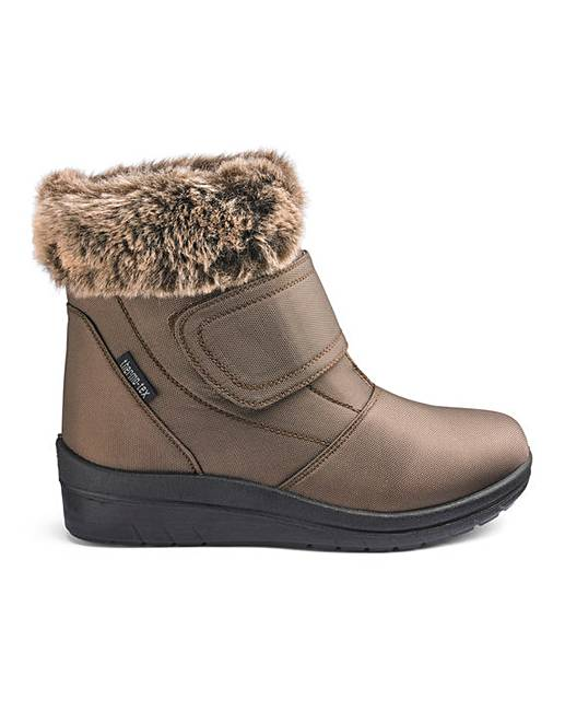 905e13a36982 Cushion Walk Warm Lined Touch And Close Fastening Ankle Boots Wide E Fit