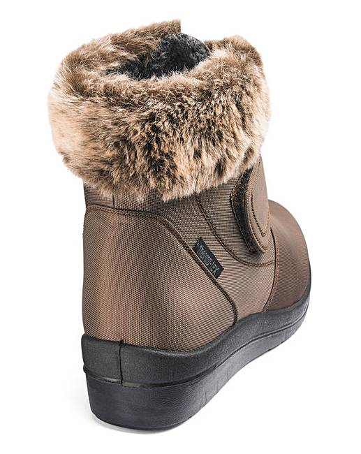 d0aad52a5b1 ... Touch And Close Fastening Ankle Boots Wide E Fit. Click to view  Cushion  Walk  products. Rollover image to magnify