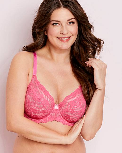fb2af065b Daisy Lace Pink Full Cup Wired Bra