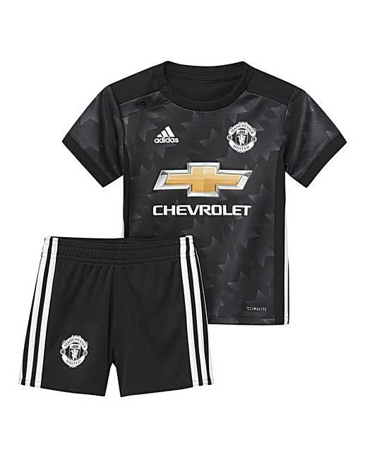new style a1ffc 6bb9d Adidas Infants MUFC Away Mini Kit