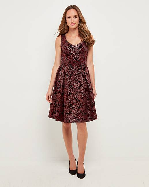 e9a815bbb8 Joe Browns Flocked Dress | J D Williams