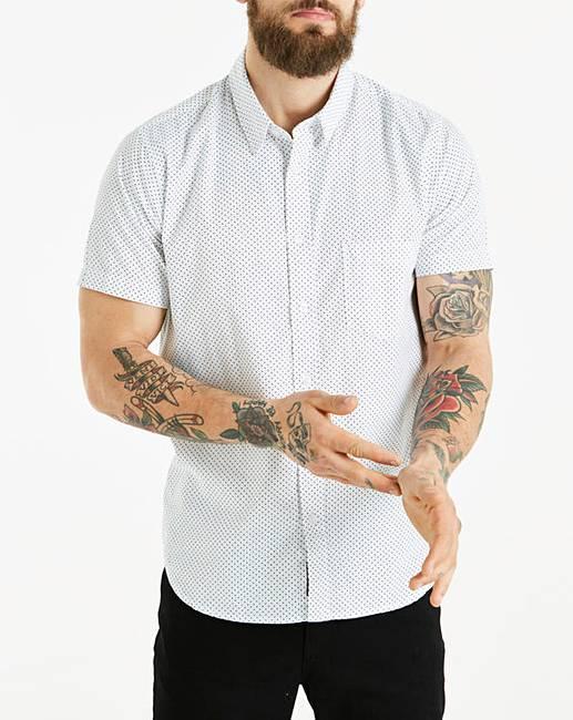 Jacamo S/S Polka Dot Print Shirt Regular for sale