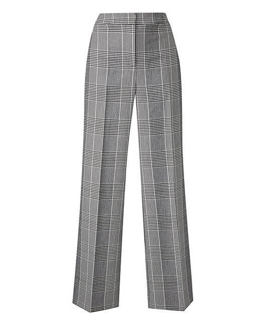 dfd3ad68d4b25 Petite MagiSculpt Check Wide Leg Trouser | Simply Be