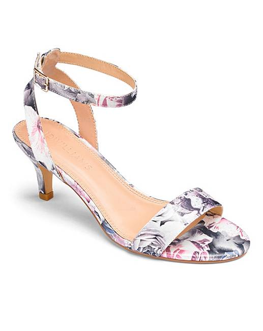 9340b5747141 Kitten Heel Strappy Sandals Wide E Fit