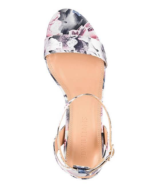 71b049dd2 Kitten Heel Strappy Sandals Wide E Fit