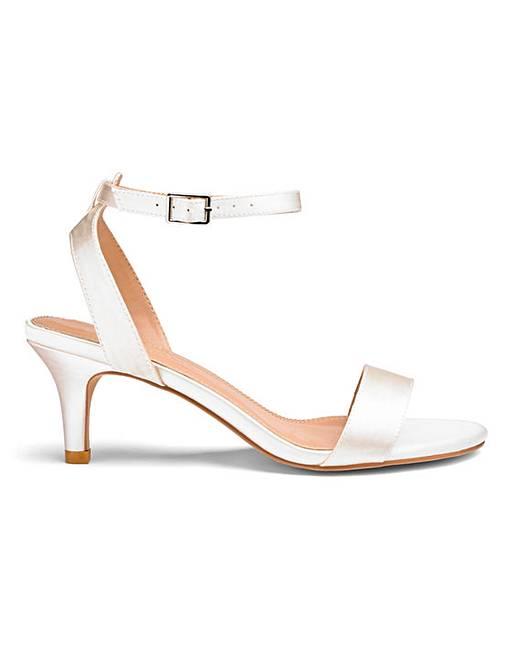 3b9563cda22 Kitten Heel Strappy Sandals EEE Fit