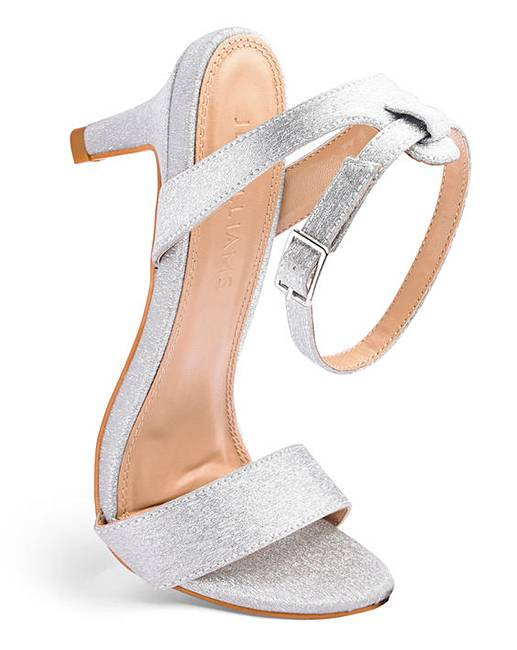 b5db174690bd Kitten Heel Strappy Sandals Extra Wide EEE Fit