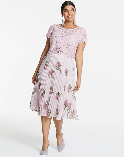 5c8dda056b81 Oasis NHM Pleated Cape Back Midi Dress | Fashion World