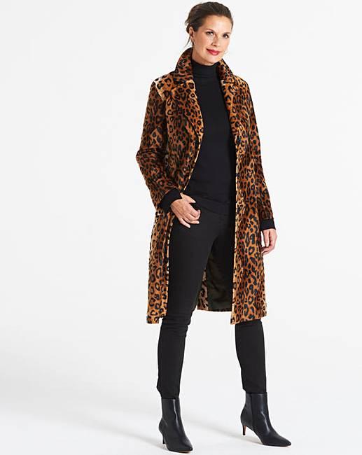 0d2f75aa871b Helene Berman Skinny Leopard Coat | J D Williams