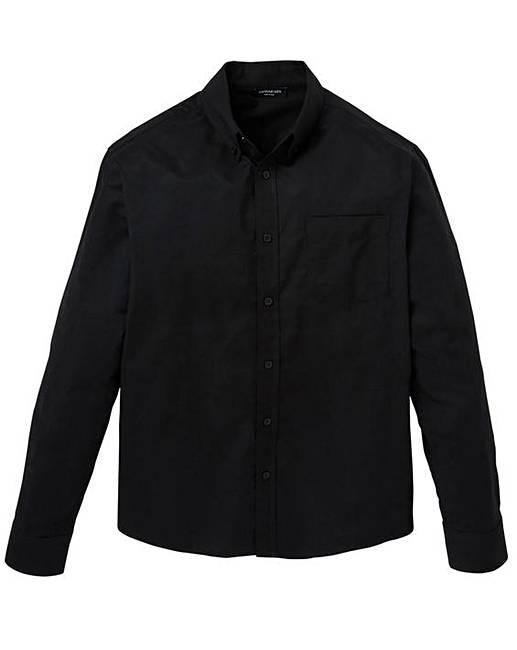 42370c193a5 Black Long Sleeve Oxford Shirt Long   J D Williams