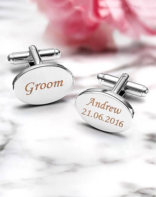 stainless steel personalised cufflinks jacamo