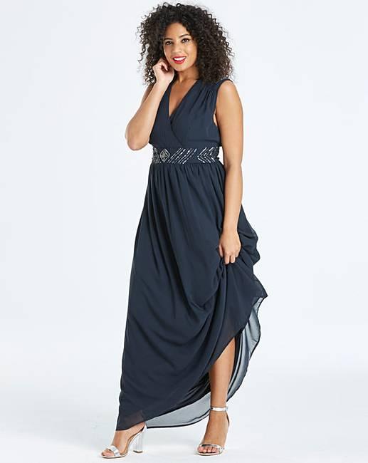 2911b6289706 AX Paris Curve Embellished Maxi Dress | J D Williams