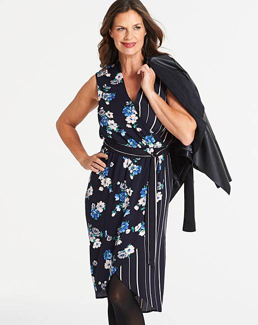 1cb1479eb322 Oasis Curve Foulard Floral Midi Dress