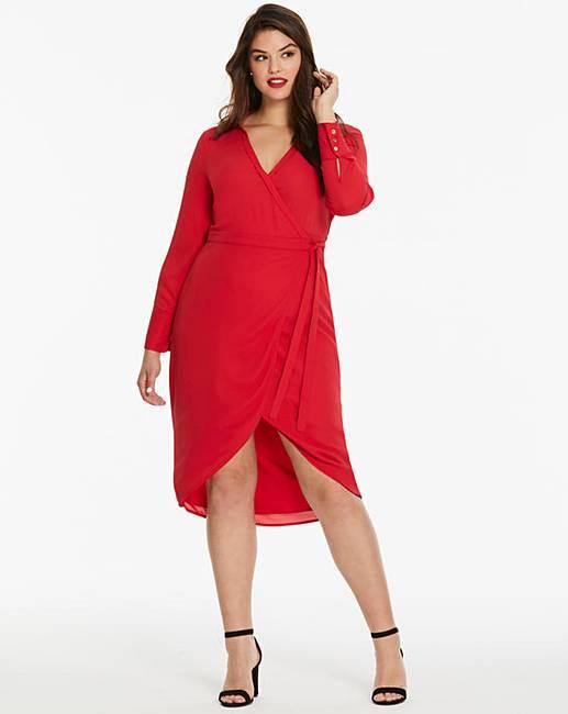 189c6faa36c Oasis Curve Wrap Shirt Dress