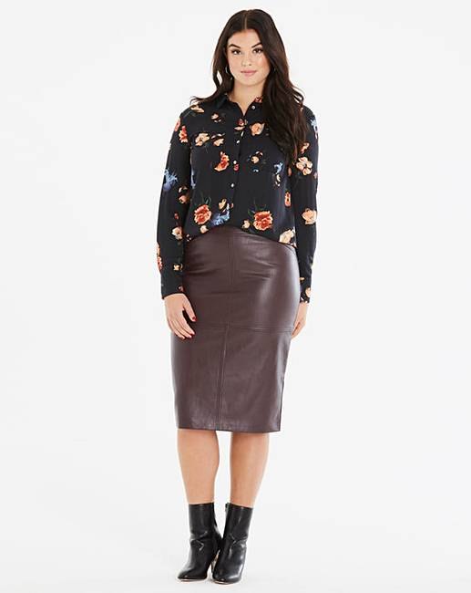 694dd15ecb Oasis Curve Faux Leather Pencil Skirt | Fashion World