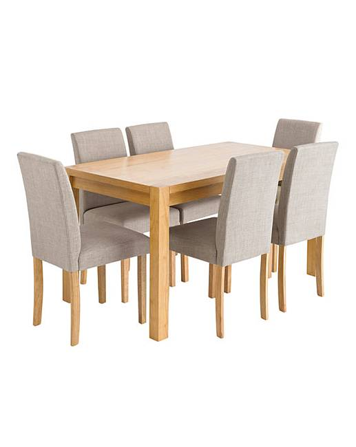 oakham rectangular table 6 mia chairs  j d williams